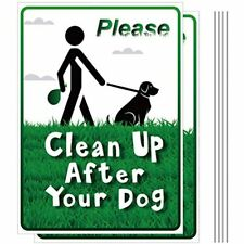 Uratot 2 Pack Please Clean Up After Your Dog Yard Signs Lawn 16 X 12 Inches With