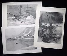 JACKSON-HARMSWORTH EXPEDITION ARCTIC EXPLORATION FRANZ JOSEPH LAND 3 PRINTS 1895