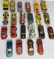 Vintage 1980s Toy Cars Lot Of 22 Hot Wheels Matchbox Die Cast Car Hong Kong Mal