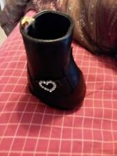 Build a Bear Single Black Boot