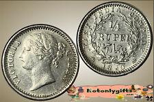 India : 1/4 Rupee 1840 ....  A/UNC & Scarce