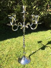 Silver XL 60cm Wedding Table Centre Piece 5 arm Candle Candelabra