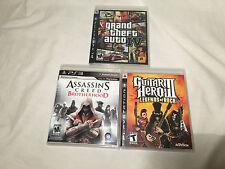 LOT PS3 Games: Guitar Hero III, Grand Theft Auto, Assassins Creed PlayStation 3