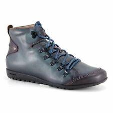 Pikolinos Lisboa Distressed Blue Lace Up Ankle Boots Size 37 US 7 EUC $189