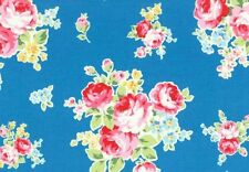 Cottage Shabby Chic Lecien Cotton Fabric Flower Sugar Med Bouquet 30968L-70 BTY
