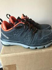Reebok Steel Toe Black Sneakers Mens Work Boots Shoes Size 8 1/2 8.5 W