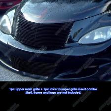 Fits 2000-2005 Chrysler PT Cruiser Black Billet Grille Combo