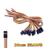 Servokabel 30cm 300mm Servo Kabel Stecker JR Graupner Goldkontakt 26AWG Male RC