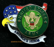 AMERICA'S HEROS BRAVEST US ARMY SEAL LOGO EAGLE AND USA FLAG HAT LAPEL PIN GIFT