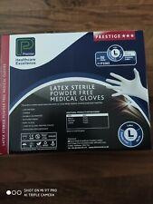 L STERILE MEDICAL GLOVES PREMIER LATEX POWDER FREE White Disposable