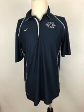 Nike Dri Fit Mens Polo Shirt Blue With White Trim Size Medium M