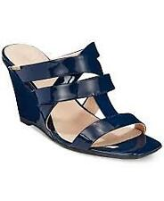 Calvin Klein Women's Nona Wedge Sandal, Black, 8.5 M US