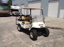 white 2014 ezgo 48v txt 4 seat Passenger golf cart 12