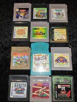 ⭐ Lot Wario Land ° Kirby ° Dragon Quest 12 Jeux Nintendo Game Boy GB Japan 🎌⭐