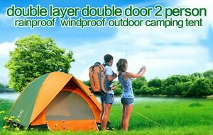 2 Person 3 Season Camping Tent Double Layer Waterproof Windproof Outdoor Hiking