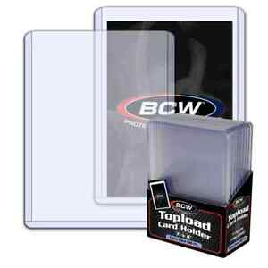 50 -  BCW 3 x 4 x 3.5mm Thick Card Toploader Holders 138pt.