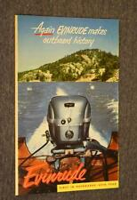1952 Evinrude Outboard Motors Product Catalog Booklet