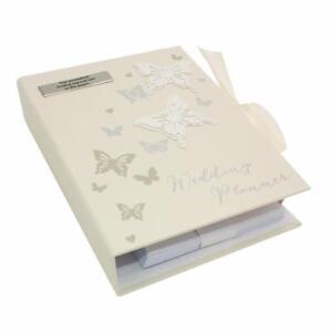 Personalised Butterflies Wedding Planner Diary Book New Organiser gift WG413-P