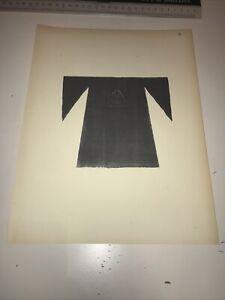 1922 Oriental Costume Antique Print Tilke Syria Mesopotamia Chemise Femme