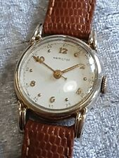 SPLENDIDA donna vintage 14K Gold Filled HAMILTON U.S.A. Orologio da polso meccanico