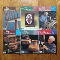 Fine Woodworking Magazine Lot 1985 Complete Year (6) Old Furniture Design Plans