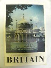 Vintage Britain The Royal Pavilon Travel Association Tourism Poster (A10)