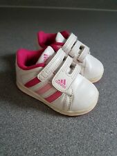 59c564601a4e Baby Girl Adidas white  pink trainers shoes 3K