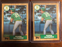 1987 Topps Mark McGwire Oakland Athletics #366 Rookie Baseball Card, Lot Of 2