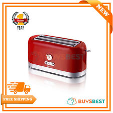 Swan 4 Slice Extra Long Slot Toaster Crumb Tray In Red - ST10091REDN