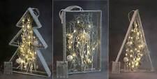 LED Weihnachtsdeko Herbstdeko 6/18h Timer warmweiße LEDs Glitzer Tanne Pyramide