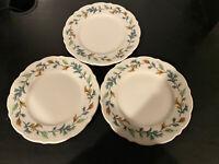 Syracuse China Kingswood Leaves Plates - Set Of 3 Rare Plates