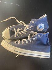 Men's Size 8.5 High Top Blue Converse Sneakers (Run Big)