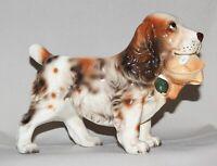"Vintage Relpo Springer Spaniel Porcelain Planter with Mallard Duck #2126 8"" Long"