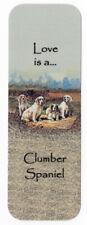 CLUMBER SPANIEL DOG BEAUTIFUL DOG BOOKMARK SAME IMAGE BOTH SIDES GREAT GIFT