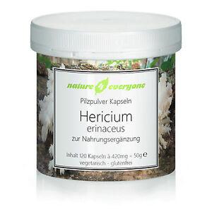 120 Hericium erinaceus Pilzpulverkapseln von nature4everyone
