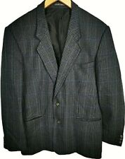 "CHARLES BARKER Wool Cashmere Single Breasted Black Grey Jacket Blazer Chest 42"""