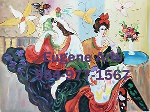 """12x16""""100% hand painted oil flat ,50% OFF, Cafe Lady/ Tarkay"""