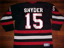 Kobe Canada Scorpions Snyder 15 Black Red White Mens Ice Hockey Jersey Small