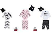 Baby Minnie Mickey Batman 3 pieces Body Pants Hat Outfit Set Newborn-24 months