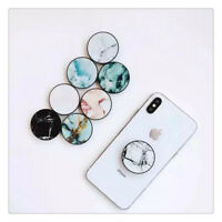 Marble Finger Moblie Phone Holder Grip & Stand Round Socket For Phone