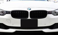 KIT 2 GRIGLIE MASCHERINE ANTERIORI BMW SERIE 3 F30 F31 2011>15 COLORE NERO OPACO