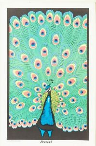 "Original Vintage 1970's Peacock Blacklight Poster 11.5"" x 17.5''"