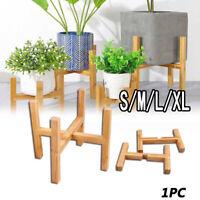 AU Wooden Shelf Rack Holder Plant Flower Pot Stand Wood Home Garden Display Tool
