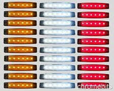 30 stück 12V 6 LED SMD Rot Orange Weiß SEITLICHE BEGRENZUNGSLEUCHTE POSITION-LKW