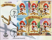 Spain Cartoons Stamps 2019 FDC Dogtanian & Three Muskehounds Animation 6v M/S