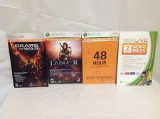 Four (4X) Xbox Live 48-Hour Free Trial Cards
