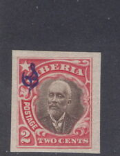 Liberia 1909, 2c Pres. Barclay official, imperforate #O60