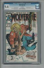 Wolverine #10 CGC 9.4 NM Marvel Comics 8/89 Sabretooth vs. Wolverine Cover