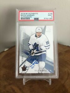 Mitch Marner PSA 9 Rookie 2016-17 SP Authentic Future Watch #148 AUTO /999 TML