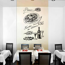 ik1023 Wall Decal Sticker pizza ingredients wine Pizzeria Italian Restaurant